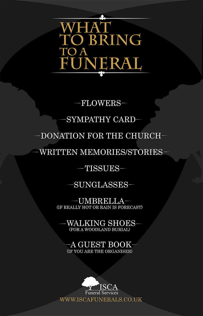 What to bring to a funeral guide infographic isca funerals what to take to a funeral guide infographic izmirmasajfo