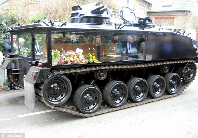army tank funeral hearse