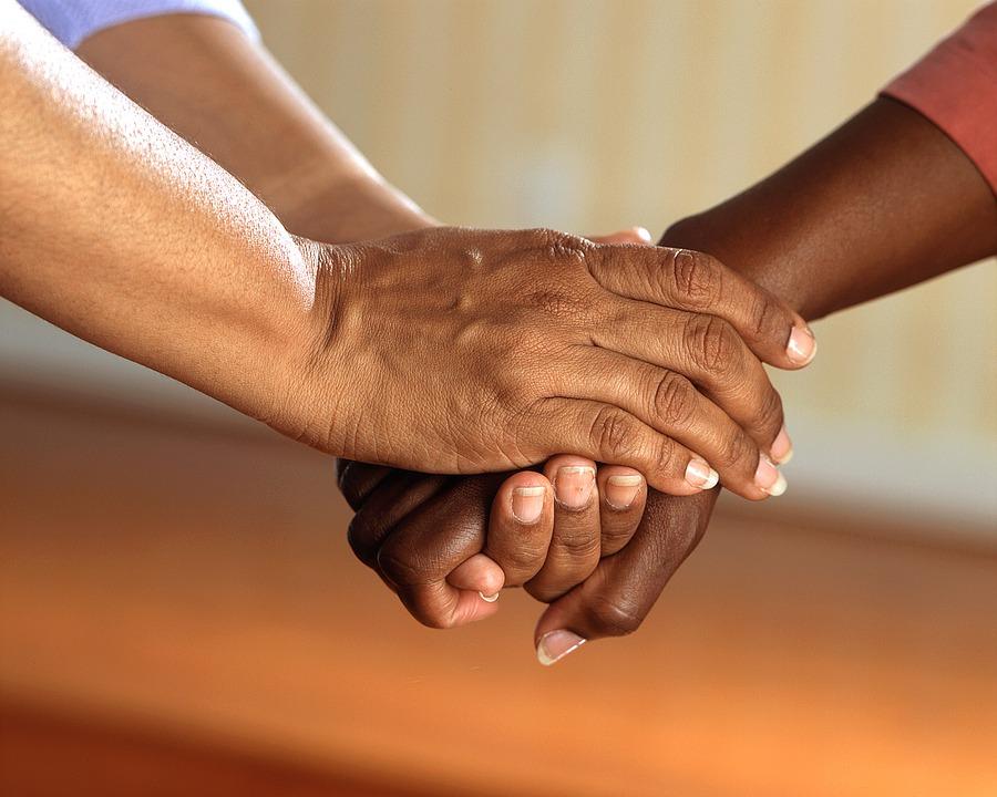 comfort hands grief