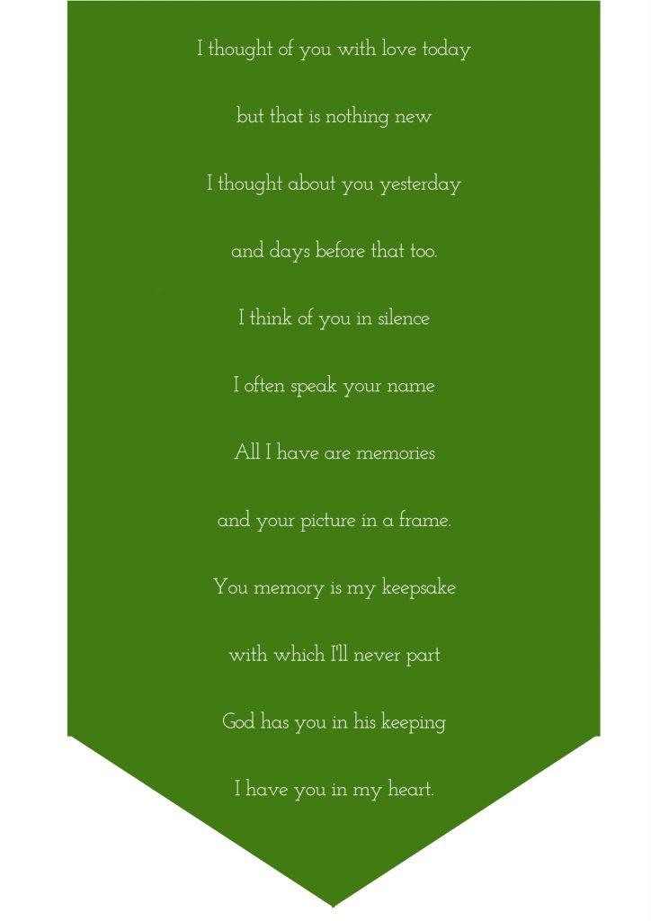eulogy poem